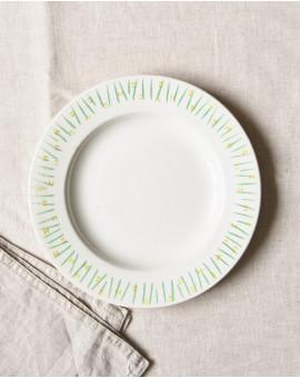 Dezertní talíř se zelenými...
