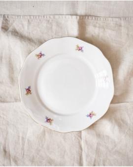 Sváteční talířky s květy...