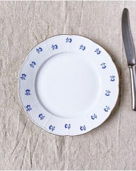 Mělký talíř s modrými...