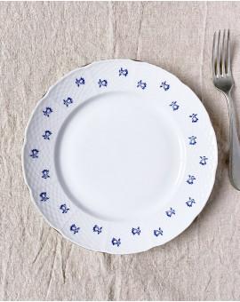 Dezertní talířek s modrými...
