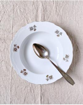 Hluboký talíř se zlatými...