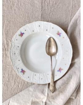 Hluboký talíř s květy a...
