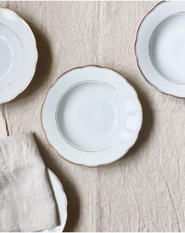 Souprava talířů se zlatou...